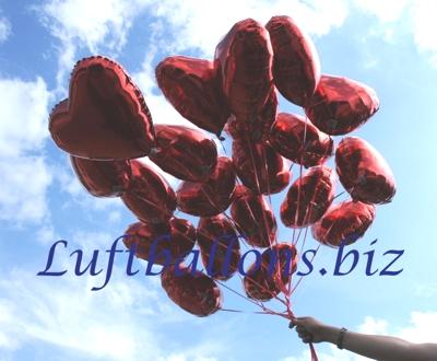 Bild. Luftballons. Herzluftballons aus Folie mit Helium