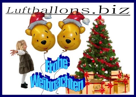Frohe Weihnachten mit Pu Bär Luftballons