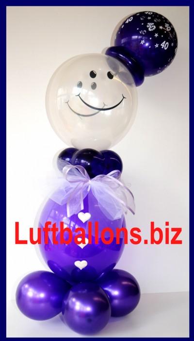 ballondeko aus luftballons, luftballonmann