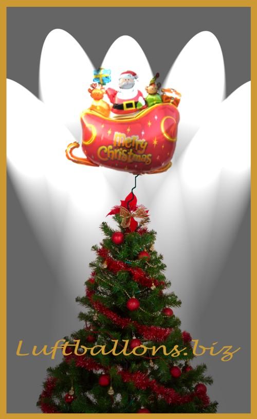 Luftballon am Weihnachtsbaum