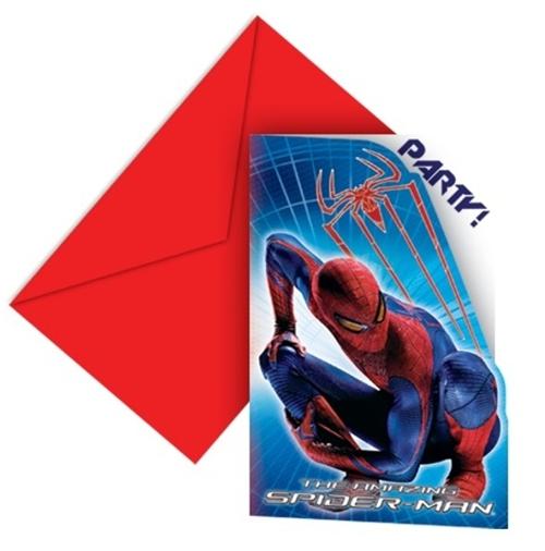 einladungskarten mit umschlag, spider-man-lu