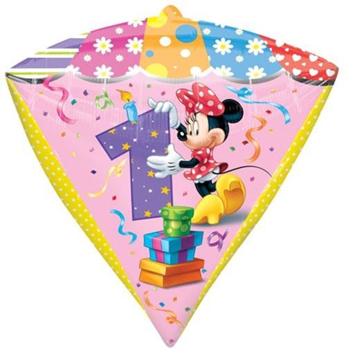 Luftballon Minni Maus Diamondz Zahl 1 Kindergeburtstag U