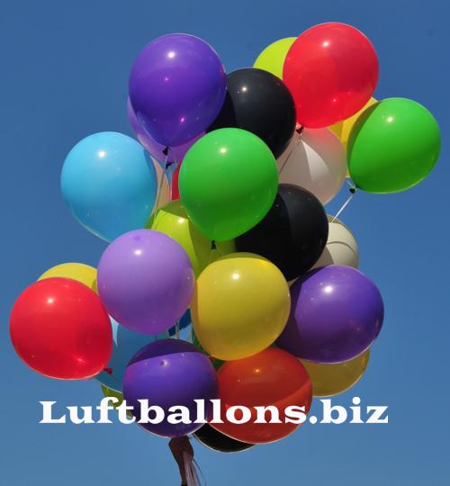 luftballons farben bunt gemischt gr e 30 cm 100 st ck. Black Bedroom Furniture Sets. Home Design Ideas