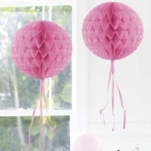 Wabenkugel in rosa hochzeitsdekoration hochzeit deko for Saaldekoration hochzeit