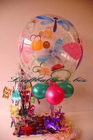 Bild. Bubble-Luftballon, Luftballons und Dekoration zum Geburtstag