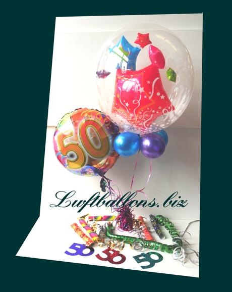 Bild. Dekoration zum 50. mit Luftballons