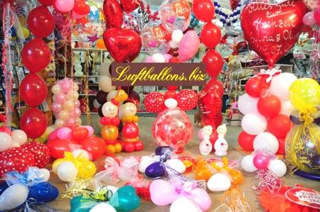 Bild. Dekorierte Luftballons im Shop