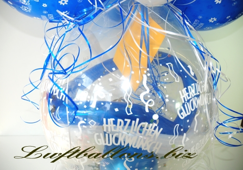 Bild. Einladungskarte im Geschenke-Luftballon