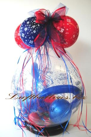 Bild. Geschenkballon, Verpackungs-Luftballon zum 18. Geburtstag