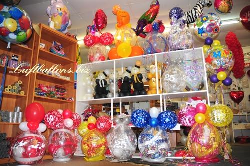 Bild. Geschenke-Luftballons und Luftballons im Geschäft und Shop von Luftballons.biz