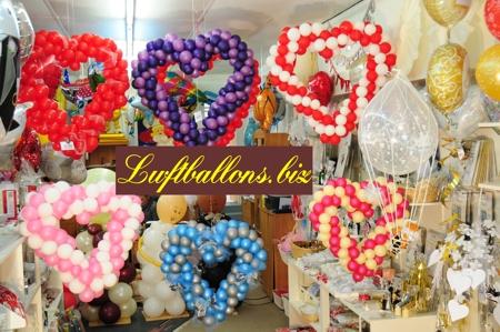Bild. Herzen aus Luftballons im Shop