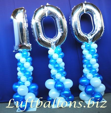 Bild. Luftballons, Ballondekoration zum 100.