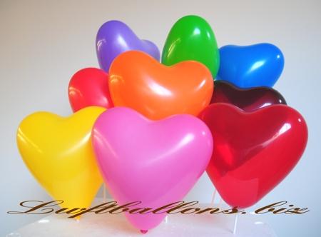 Bild. Luftballons Herzen, Herzluftballons