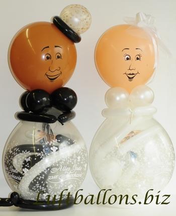 Bild. Luftballons Hochzeitspaar