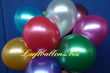 Bild. Luftballons in Metallicfarben