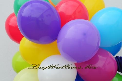 Bild. Luftballons in Pastellfarben. Nahaufnahme Qualitäts-Luftballons
