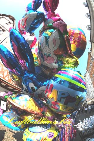 Bild. Luftballons zu Ostern