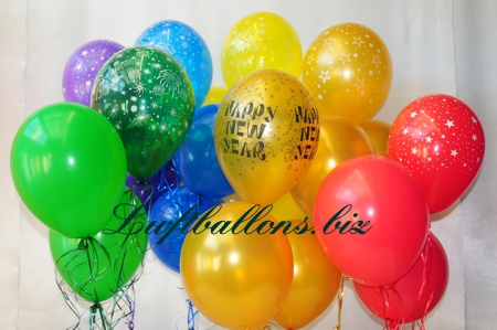 Bild. Luftballons zu Silvester und Neujahr