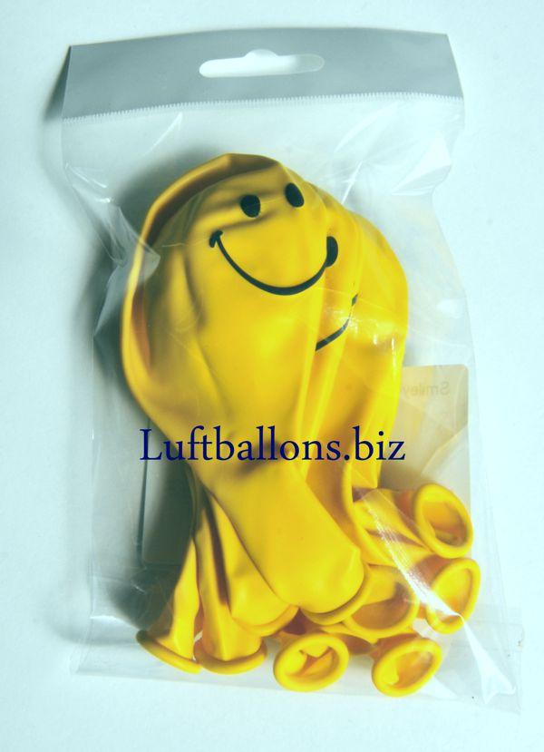 10 Stück Smiley Luftballons