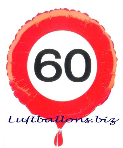Heliumballon, Traffic 60, Zum 60. Geburtstag