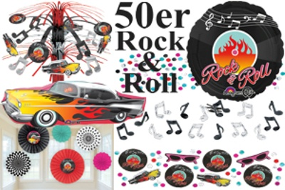 party dekoration 50er jahre rock and roll. Black Bedroom Furniture Sets. Home Design Ideas