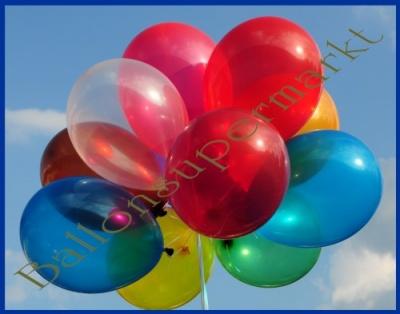 Luftballons zur Dekoration in Kristallfarben