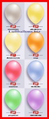 Deko Luftballons Serie 2 Perlmuttfarben, 90/100 cm
