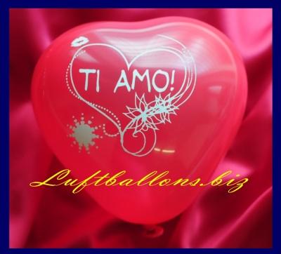 Mini-Herzluftballons mit Text und Motiv