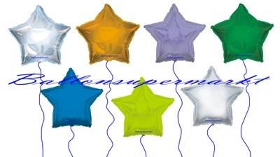 Sternballons, Stern-Luftballons aus Folie