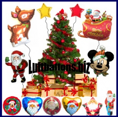 Folien-Luftballons zu Weihnachten und Nikolaus