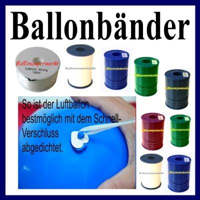 Ballonzubehör, Ballonband Blau