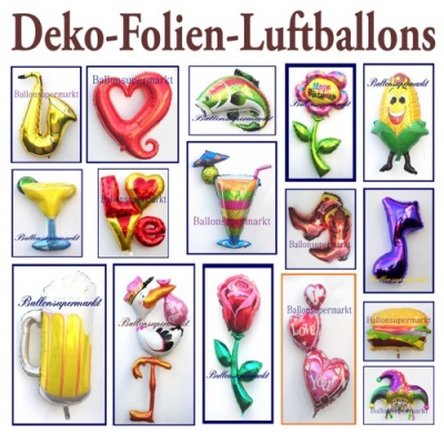 Deko-Luftballons aus Folie