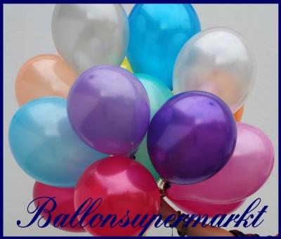 Deko-Luftballons, Metallic-Farben, Latexballons