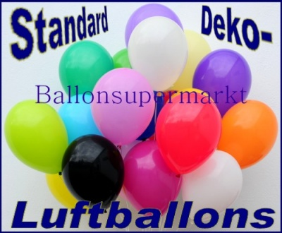 Luftballons zur Dekoration in Standardfarben