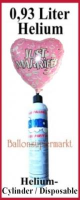 Folienballons mit Helium in kleinen Flaschen, Mini-Helium-Einweg