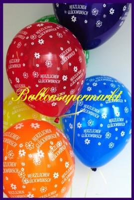 Luftballons Herzlichen Glückwunsch