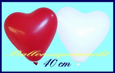 Herzluftballons in 40 cm