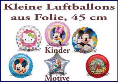 Kleine Luftballons aus Folie, Kindermotive
