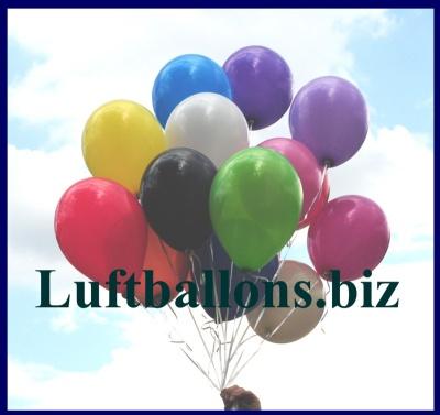 Rund-Luftballons mit 25 cm Durchmesser