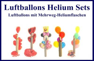 Luftballons Helium Sets, Mehrweg-Ballongasflaschen