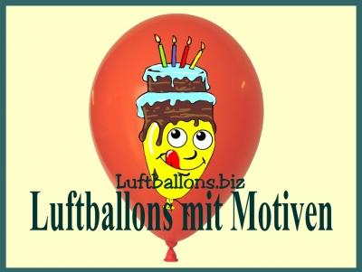 Luftballons mit Motiven, bedruckte Ballons aus Latex