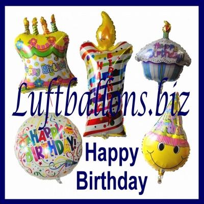 Geschenke zum Geburtstag, Luftballons aus Folie mit Helium