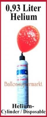 Luftballons mit Helium in kleinen Flaschen, Mini-Helium-Einweg