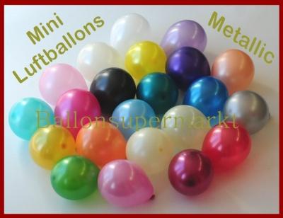 Kleine Luftballons in Metallicfarben, Mini-Metallic-Luftballons