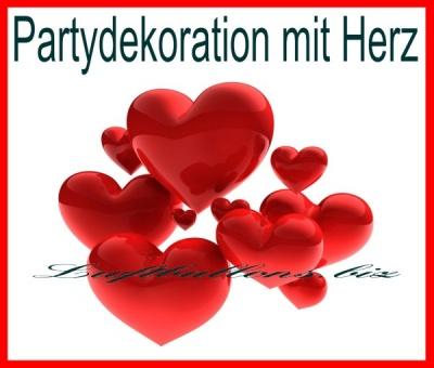 Partydekoration mit Herz