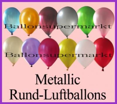 Rund-Luftballons Metallic mit 30 cm Durchmesser