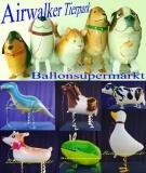 Tiere Luftballons, Airwalker ohne Helium