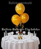 Ballon-Buketts Tischdeko Silvester