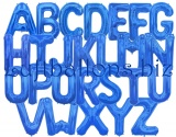 Große Buchstaben, Blau, 100 cm, inklusive Helium-Ballongas