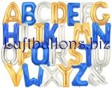 Luftballons aus Folie, Große Buchstaben